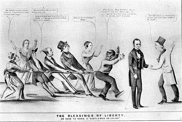 Аболиционизм в США Довоенная карикатура