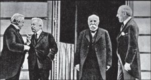 Ллойд Джордж, Орландо, Клемансо и Вильсон на подписании Версальского договора
