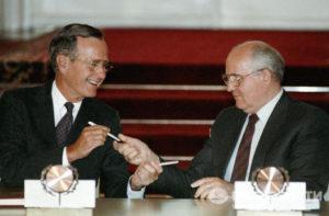 Буш и Горбачев. Мальта