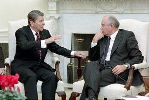 Рейган и Горбачев в Женеве