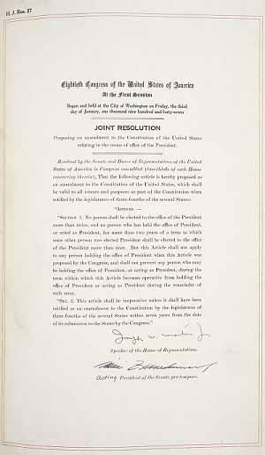 22 поправка к конституции США